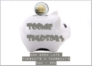 TOONIE THUSDAY ALERT! All children's clothing NB to Size 8