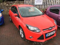Ford Focus Zetec 5 Door, Very Low Miles, RAC Warranty, £20 Road Tax, One Owner, Finance Available.