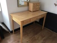 Desk/dressing table and draws set