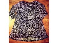 Marks & Spencer Tiger Print Blouse - Size 14