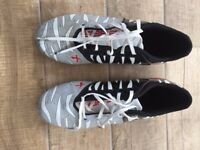 Rugby Boots - X BLADES WILD THING CYBER FG - BLACK/WHITE/RED (Size 12)
