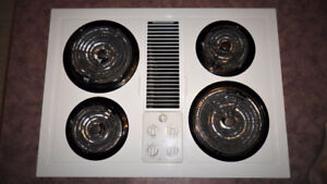 """GE  30""""  Electric  Cooktop with Downdraft"""