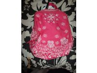 PINK AND WHITE PATTERNED BACKPACK FROM CLAIRES BRAND NEW GREAT FOR BACK TO SCHOOL