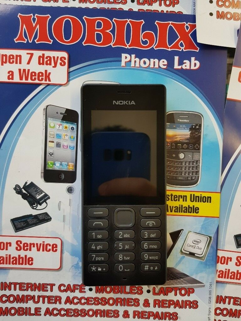nokia 150 black brand newin Chingford, LondonGumtree - nokia 150 black brand new Condition Brand New Unlocked to Any network Color Black Vga, LED Flash Memory support Up To 32GB Network GSM Stereo FM Radio Bluetooth v3.0, Any Questions....!!!! Please Feel Free To Contacs us @ 0208 523 0698 Mobilix Phone...