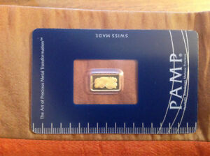 Pamp swiss gold/or 1 gram .9999