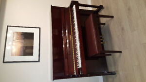 WAGNER UPRIGHT PIANO AND BENCH IN EXCELLENT CONDITION