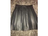 French connection leather skirt - size 10