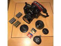 Canon 5D Mk I, 20mm/2.8, 50mm/1.8 Mk II, 3 X Batteries, 8GB & 4GB CF, USB 3.0 Reader