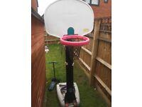 Basketball hoop free standing