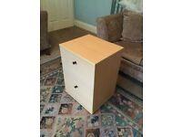 2 Drawer Filing Cabinet L18in/46cm W16in/41cm H25in/64cm