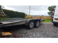 Car transporter trailer tilt bed