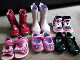 Bundle of 6 pairs of Girls size 5 shoes