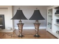 Set of Black/Gold Table Lamps