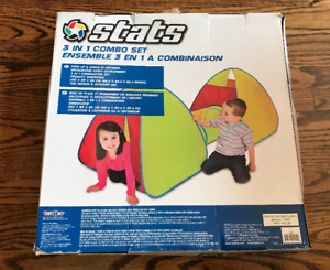 Re: 3 in 1 combo kid play  set (2 tents + 1 tunnel)