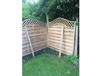 Garden Fences, Posts and Post Concrete Mix - Very good quality and condition. Not used