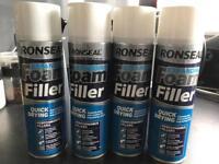 4 x Ronseal expanding foam aerosol 500ml