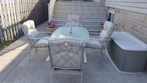 PATIO SET- 5 PIECE WITH CUSHIONS