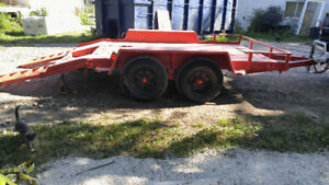 Heavy duty tandem axle bobcat trailer!