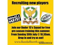 Llandaff North RFC U15's - Recruiting now!