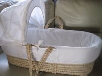Moses Basket as new in very good condition