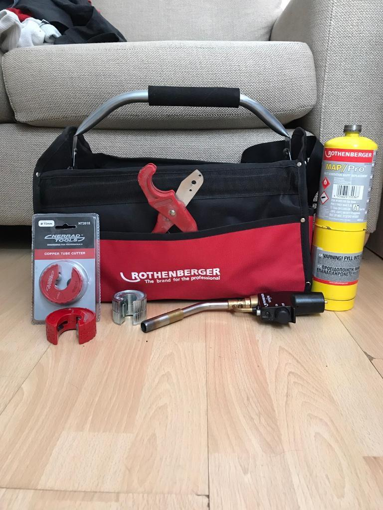 Rothenberger Super Fire 2 Blow Torch Bag With Plumbing Tools