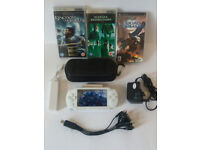 SONY PSP CONSOLE 1003 WHITE INC EXTRAS AND GAMES UMDS GCOND!!