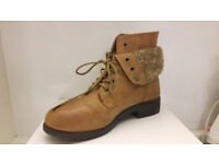 Brown autumn ankle boots with laces UK size 4
