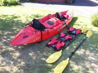 tandem kayak - Emotion co-motion, sit on top - 12 foot