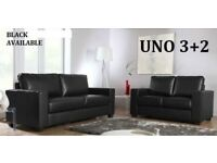 This week delivery only 3+2 Italian leather sofa brand new black or brown