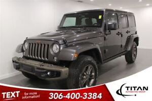 2017 Jeep WRANGLER UNLIMITED Sahara|75th Ann |Heated Leather|Nav