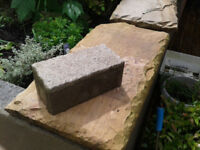 Paviors, block with granite top, for area 3m x 3.5m