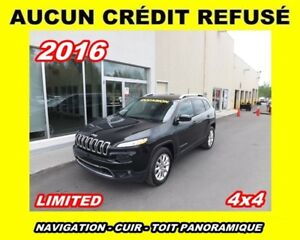 2016 Jeep Cherokee Limited*TOIT PANORAMIQUE*CUIR*4x4