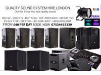 Speaker hire - PA HIRE - SOUND SYSTEM HIRE, DDJ SZ, QSC K12, RCF 745, RCF DB