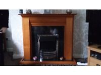 Full Electric Fire Suite inc hearth, surround, fire and backing