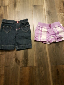 2 girl's size 4t shorts