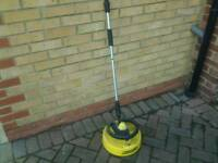 Power washer patio scrubber