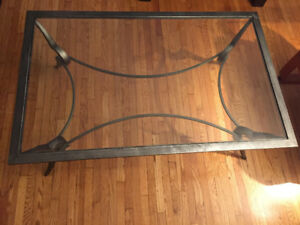 Glass top/Steel base Table for sale