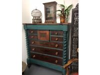 A very, very large and beautiful Georgian antique chest of drawers