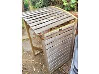 Wooden Rowlinson Wheelie Bin Shed (3 sides)