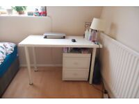 3 x White IKEA Study Desks in good condition for sale!