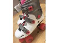 2 pairs of roller boots both size 38