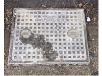 Solid steel air tight manhole inspection cover