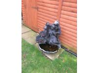 Very large garden water feature