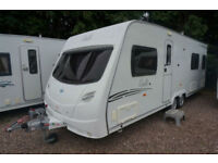 2008 LUNAR DELTA SB 4 BERTH CARAVAN - FIXED SINGLES - TWIN AXLE - SUPERB!!