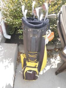 Set of Golf clubs in bag