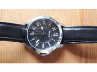 Fossil FS4745 Mens Watch Black Dial & Black Leather.
