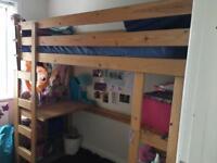 Lovely wooden high sleeper bed