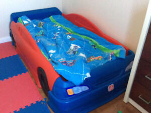 Race Car Twin Bed - Red /Blue
