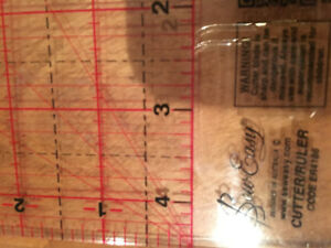 Quilting Ruler cutter Never used