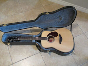 12 String Yamaha Guitar and Hard Case for sale or trade
